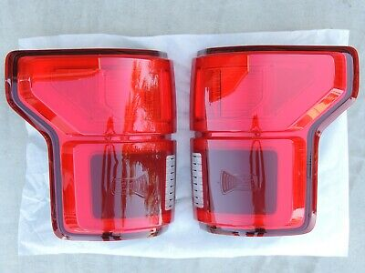 18 F150 Led Tail Lights With Blind Spot Oem Ford Lamps Set