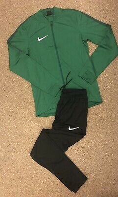 Nike Dri Fit Academy Tracksuit Size Small. Green And Black.