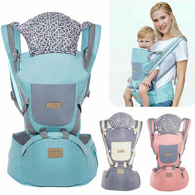 Ergonomic Baby Carrier With Hip Seat Stool Adjustable Wrap Sling Backpack E3K9C