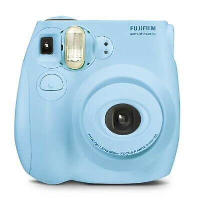 Fujifilm Instax Mini 7s Instant Camera Bundle Film Album  Photo Holders Blue