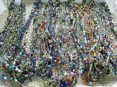 #85-From a New Orleans Mardi Gras Parade-Glass Carnival Beads-lot of 1 dozen