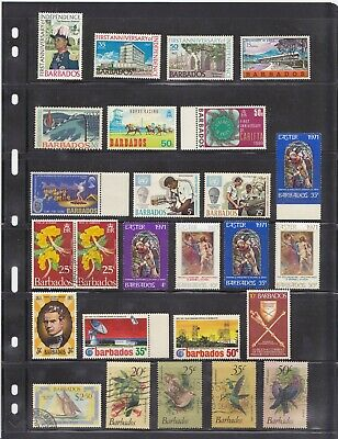 Small collection of Barbados stamps - mainly mint - good condition - 2 scans