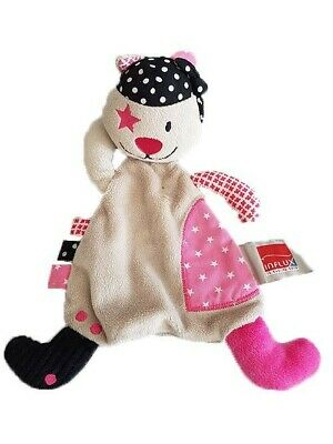 Doudou Influx Ours Beige Pirate Plat -