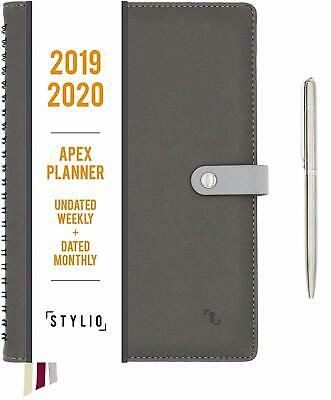 Apex Planner 2019-2020. Undated Weekly, Dated Monthly & More! Includes Pen.