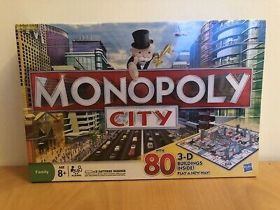 Hasbro Monopoly City Board Game 3-D Buildings Brand New & Sealed