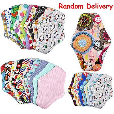 Women Sanitary Pad Reusable Washable Panty Liner Bamboo Cloth Mama Menstrual