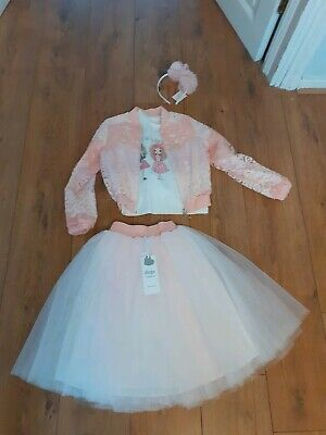Daga Collection Designer Girls Outfit  with jacket and hairband Size 128cm 6-7