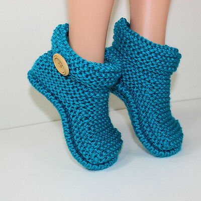 Printed Knitting Instructions- Children's Easy Boots - Slippers Knitting Pattern