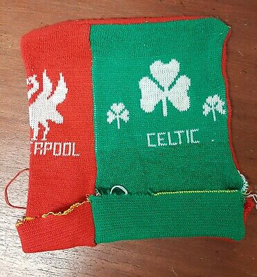 Vintage 1980's Liverpool & Celtic twin fan bobble hat