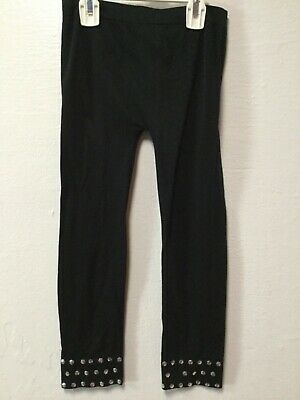 Real Love Girls Leggings Size 7 to 16 Black Studded Cuffs 139