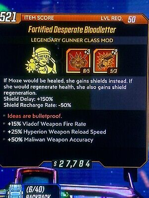 Borderlands 3 Fortified Desperate Bloodletter Classmod (Xbox One Only)