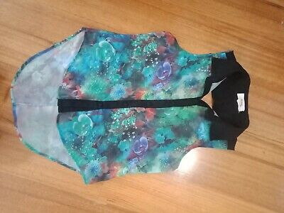 Kenji Size 10 Ladies Sleeveless Top Sheer Fabric With Rear Cutout Feature