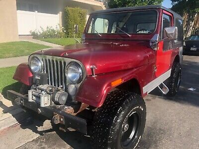 1979 Jeep CJ 7  HEI Ignition Livewires Roll Cage Custom CJ7 Mile Marker Winch Hard Top Chrome Grill