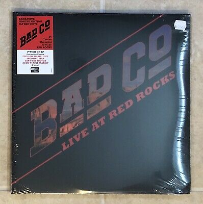 Bad Company Live At Red Rocks RSD 2019 Black Friday Exclusive 2-LP Red Vinyl New