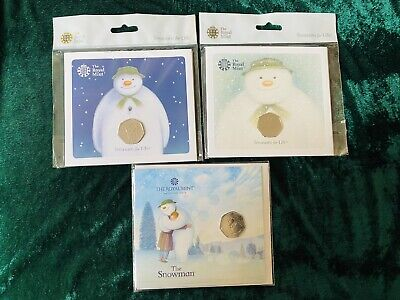 Royal Mint Snowman 50p Coin 2018 presentation pack Brand New