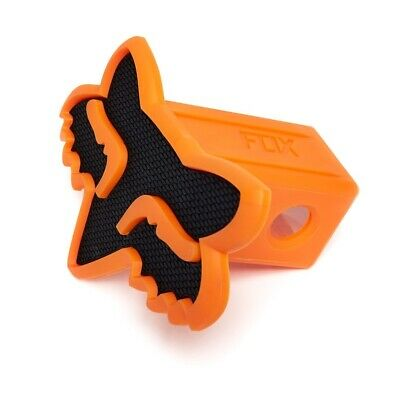 Fox Racing NEW Mx Car Towpoint Vehicle Black Orange Foxhead Trailer Hitch Cover