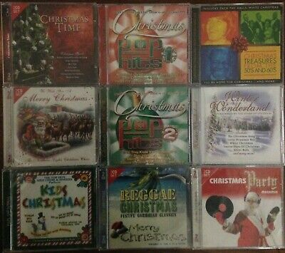 Lot of 9 Holiday, Christmas CDs, Over 200 Tracks, 13 Discs New, Legacy/Play 24/7