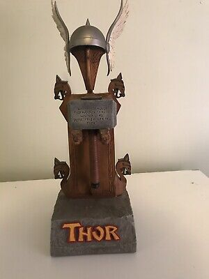 thor Helmet And Hammer Statue No Box