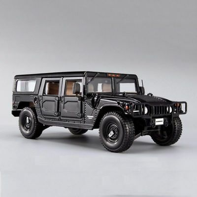 1/18 Scale Maisto Black Hummer H1SUV Vehicle  Car Model Alloy Diecast Model