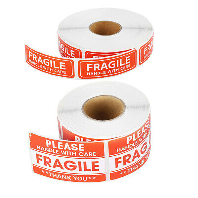 100/200Pcs Fragile Stickers Handle with Care Thank You Warning Label Tag Craft