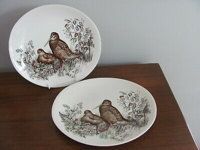 """Johnson Brothers England Game Birds Oval Dinner Plate Woodcock 10 1/4"""""""