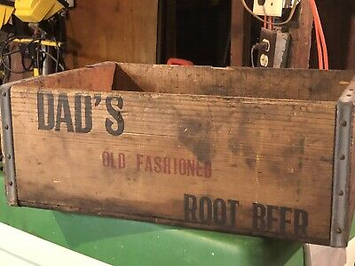 Vintage Dad's Old Fashioned Root Beer Wood Soda Crate San Francisco