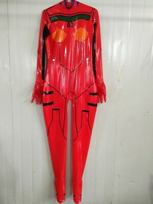 Cosplay Latex Rubber Sexy Bodysuit Mischfarbe Women Full Gummi Catsuit With Feet