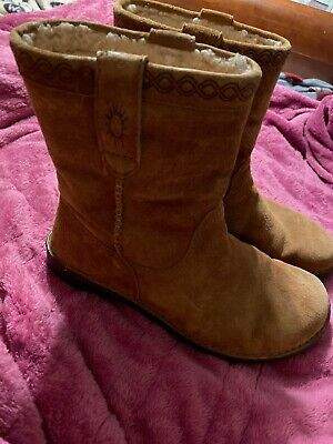 Details about UGG Boots Mens 14 ~ SN 1756 Tan Brown Sheepskin Suede Western Sun ALISO