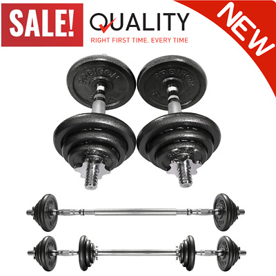 20 Kg Cast Iron Adjustable Dumbbell Set Hand Weight W/ Solid Dumbbell Handles