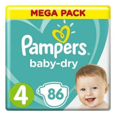 Pampers Baby-Dry Méga Pack 86 Taille 4