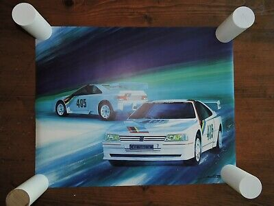 lithographie  PEUGEOT 405 TURBO 16