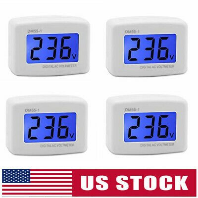4X DM55-1 AC 80-300V LCD Digital Volt Meter Voltmeter US Plug Electric Pen Meter