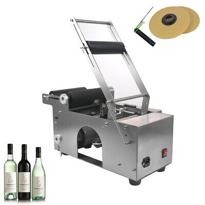 MT-50 Semi-Automatic Round Bottle Labeling Machine Stainless Steel Manual