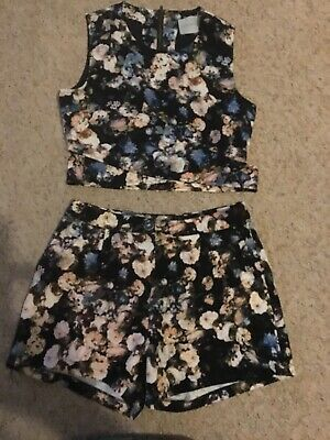 Beautiful Ladies/girls Two Piece Shorts And Top Size 8