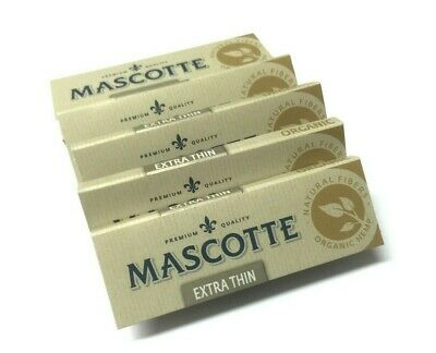 Mascotte Extra Thin Organic Unbleached Slow Burn Cigarette Rolling Papers Ryo