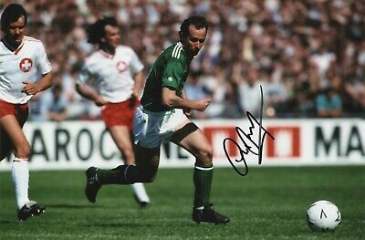 Republic Of Ireland Football - Liam Brady - In Person Signed Colour Photograph.