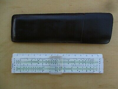 Vintage 1971 A.W. Faber - Castell 167/87g Rietz Pocket Slide Rule with Pouch