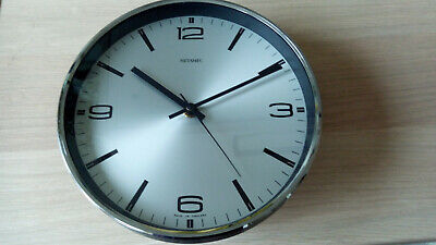 Metamec wall clock battery operated 1970's with original Kienzle movement
