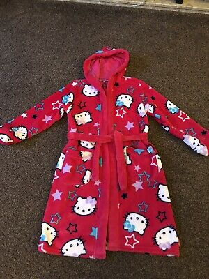 Hello Kitty Dressing Gown - M&S age 9-10 Years.