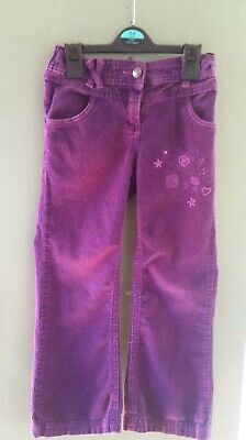 Girls Purple Cord Trouser Pants 6-7 Years From Cherokee with adjustable waist