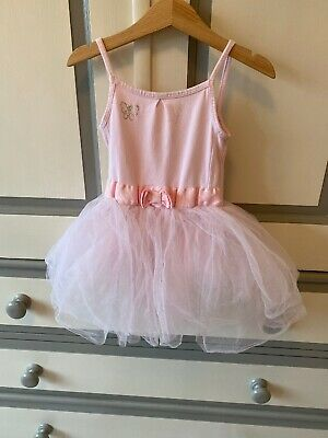 Tu Girls Pink Ballet Dress With Tutu And Built In Leotard - Age 5 Years