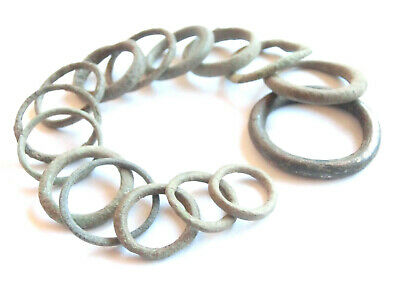 IRON AGE Ancient CELTIC Bronze Ring PROTO MONEY 15pcs - the biggest piece Billon