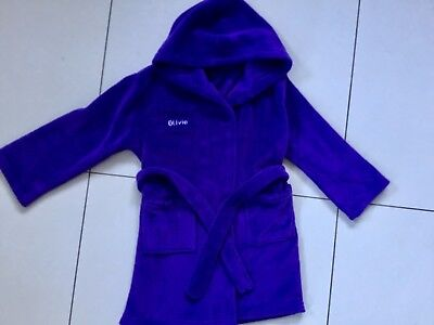 used Twice girls purple soft dressing gown with wording Olivia age 6-7