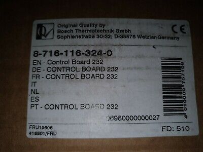 WORCESTER 24i RSF PRINTED CIRCUIT BOARD PCB 232 87161163240