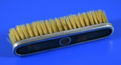 Antique Silver And Faux Tortoiseshell Dressing Table Brush Levi & Salaman 1912
