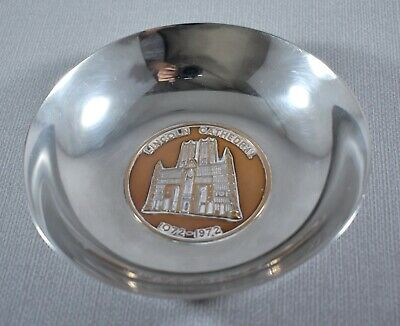 Silver Plate Lincoln Cathedral 1072-1972 Commemorative Dish Bowl