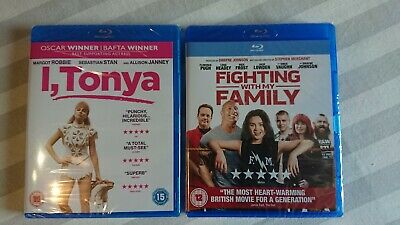 Fighting With My Family 2019 I, Tonya 2017 sealed BR Blu-Ray NEW Rock Robie Stan