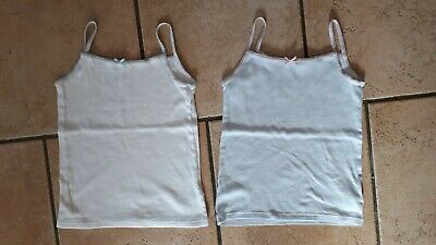 2 x GIRLS VESTS FROM MARKS & SPENCERS - 5-6 YEARS