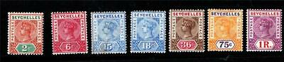 Seychelles.1897-1900.Set(7).Mounted Mint.sg#28-34
