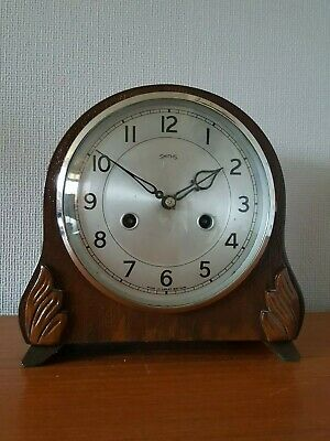 Antique Smiths Striking Mantle Clock With Pendulum. Needs Attention.